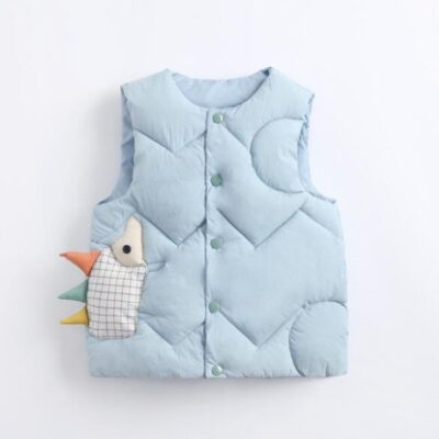 2020 Autumn Children Warm Down Vest Baby Cotton Waistcoat Kids Outerwear Vest Children Clothing Boys Girls Hooded Jackets Vest