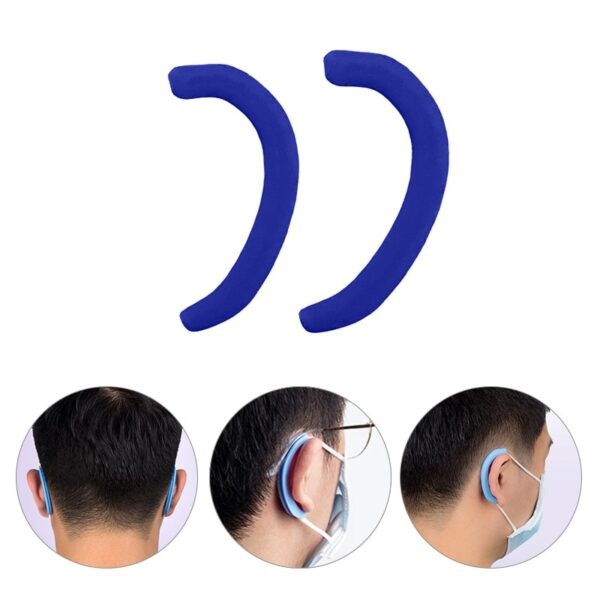 Silicone Anti Pain Earmuffs Protector Soft Protective Ears Mask Rope Cover Band Cover Mask Accessories 1Pair