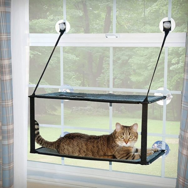 Cat Bed Cat Window Perch HammockMounted Cat Hammock Bed Pet Seat Super Suction Cup Hanging Lounger Soft Warm Bed For Cats Small Dogs Rabbits