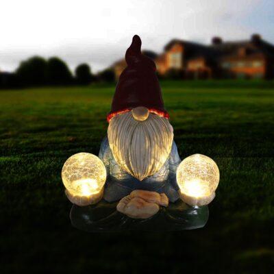 LED Gnome Decor Garden