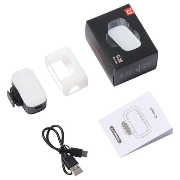 Ulanzi VL30 5500K Mini LED Video Light Rechargable GoPro Light Mod On Camera Light for Gopro 9 8 iPhone 12 Pro Max 11 X Xs Max