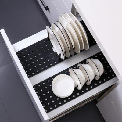Drawer Retractable Tableware Rack