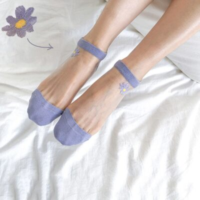 Transparent Daisy Socks