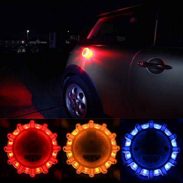 Road Flares Flashing Warning Light