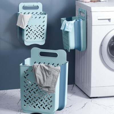 Wall hanging Laundry Hamper Foldable Laundry Basket For Dirty Clothes Storage Large Capacity Sundries Toy Storage Organizer