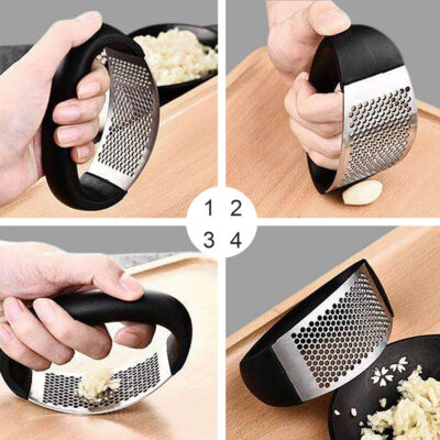Round Garlic Crusher