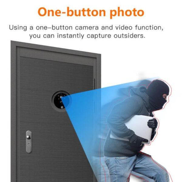 Video Eye Video Doorbell 4.3 Inch Door Peephole Camera LCD Digital Electronic Door Viewer Night Vision Support Motion Detection