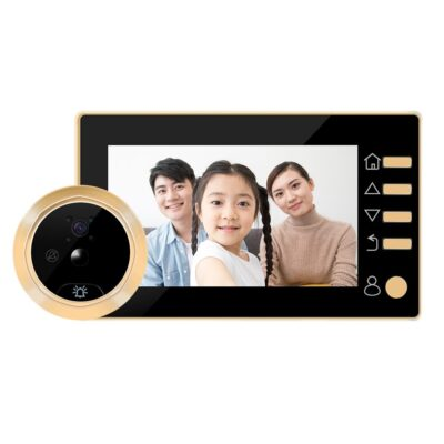 Video Eye Video Doorbell 4.3 Inch Door Peephole Camera LCD Digital Electronic Door Viewer Night Vision Support Motion Detection