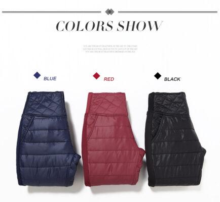 Plus Size 6XL Women Winter Pants High Waist Velvet Thick Warm Down Pants Trousers Women Fashion OutWear Pencil Pants Leggings