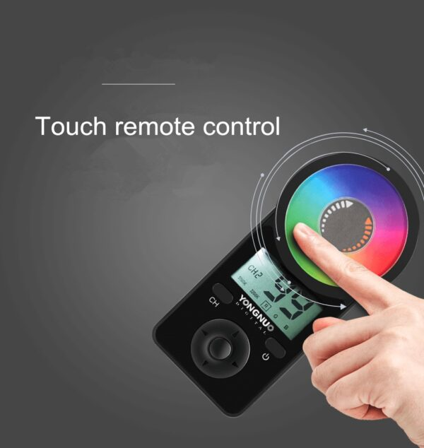 YONGNUO YN360 III YN360III LED Video Light Handheld Touch Adjusting With Remote Adjustable RGB Color Temperature 3200K-5500K