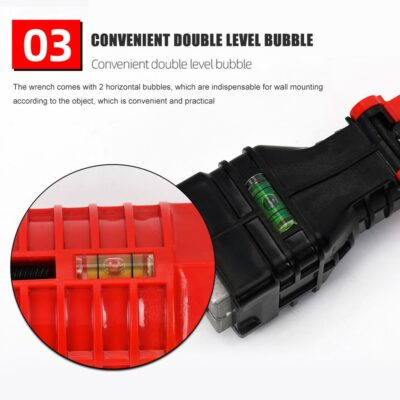 18 in 1 Foldable Water Pipe Wrench Double End Basin Bottom Pliers Sleeve Bathroom Faucet Sink Installation and Maintenance Tool
