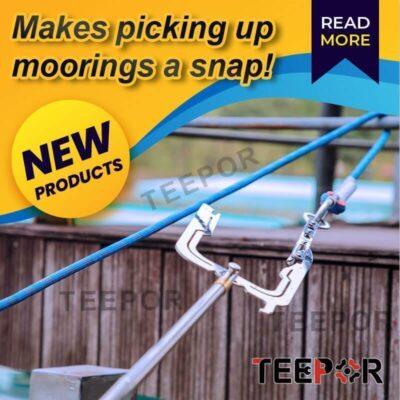 THE TEEPOR Multi-Purpose Dock Hook Easy Long-distance Threader Einfacher Fernbediener