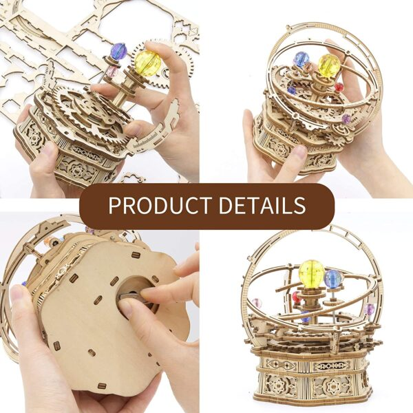 Rotatable DIY 3D Starry Night Mechanical Music Box