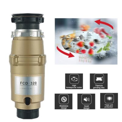 Kitchen Food Waste Disposer with Multifunctional Stopper