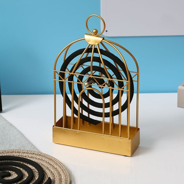 Creative Mosquito Coil Holder Nordic Style Birdcage Shape Summer Day Iron Mosquito Repellent Incenses Rack Plate Home Decoration