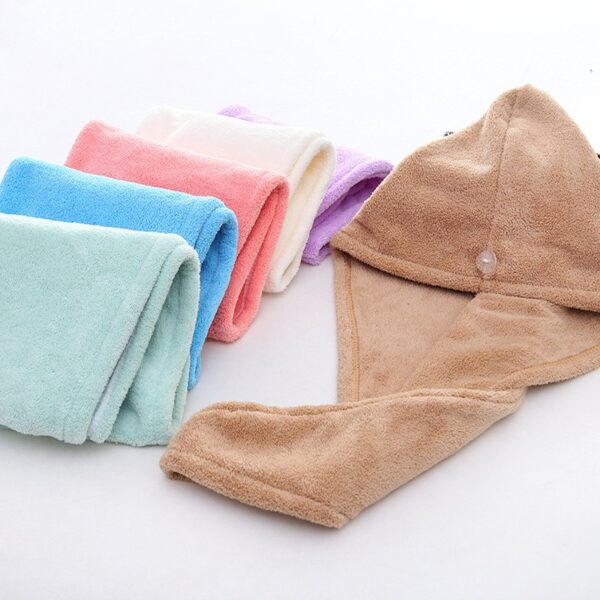 Women Bathroom Super Absorbent Quick-drying Thicker microfiber Bath Towel Hair Dry Cap Salon Towel rapid drying hair towel