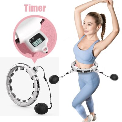 Smart Sport Hoop Counting Fitness With Massage Ball Adjustable Spinning Thin Waist Abdominal Exercise Gym Hoop Home Training