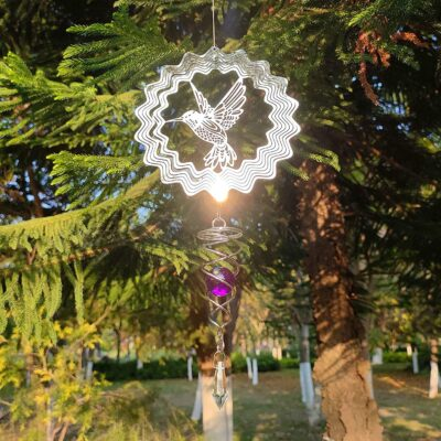3D Stainless Steel Tree Ornaments