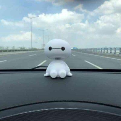 Baymax Robot Shaking Head Figure Car Ornaments