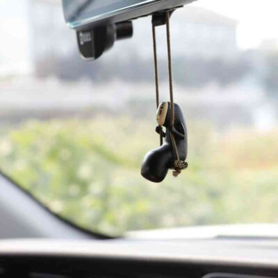 Faceless Man Mirror Pendant Car Ornament Accessory