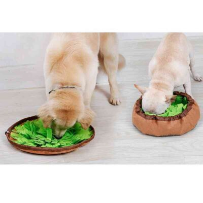 French Bulldog Sniffing Stress Release Mat