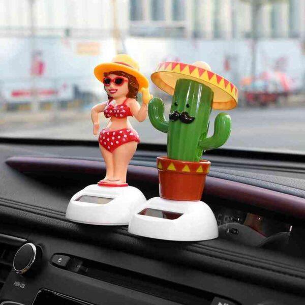 Solar Powered Dancing Shaking Head Car Ornament