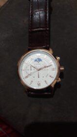 Classic Leather Waterproof Quartz Clock