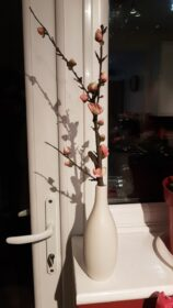 Minimalist White Ceramic Matte Flower Vase for Hydroponics Plants